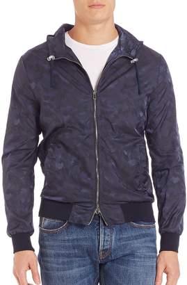 Eleventy Men's Tonal Camo Print Hooded Jacket