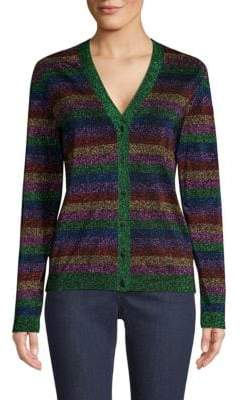 Escada Sport Multi-Lurex Stripe Cardigan