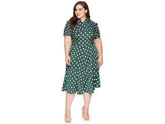 Unique Vintage Plus Size 1940s Style Camilla Midi Dress