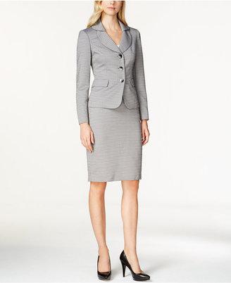 Le Suit Shawl Collar Skirt Suit $200 thestylecure.com