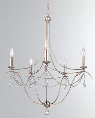 Metro 5-Light Crystal Beads & Silver Chandelier