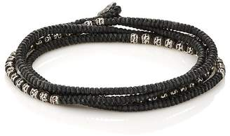 M. Cohen Men's Beads On Knotted Cord Wrap Bracelet