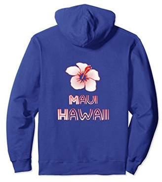 Maui Hawaii Hibiscus Flower Pullover Hoodie