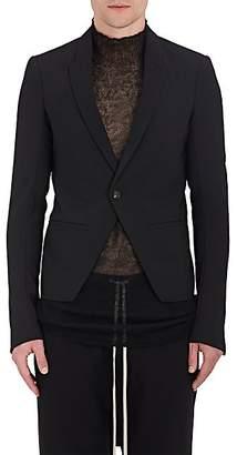 Rick Owens Men's Crop Stretch-Virgin-Wool One-Button Sportcoat - Black