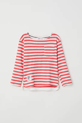 H&M Striped jersey top - White