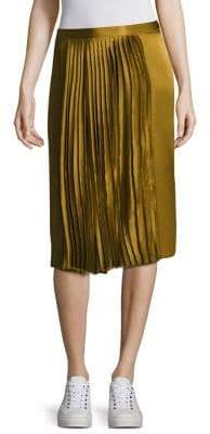 Public School Gamil Silk Pleated Skirt