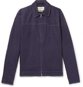 Oliver Spencer Buck Linen Bomber Jacket