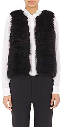 J. Mendel Women's Sequined-Back Fur Vest