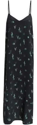 Equipment Printed Silk-Crepe De Chine Midi Dress