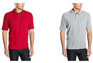 Hanes Men's X-Temp Performance Polo Shirt (1 Pack 2 Pack)