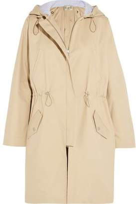 Sea Twill And Broderie Anglaise Cotton Hooded Jacket