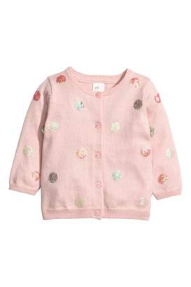 H&M Cardigan with Sequins - Light pink/dotted - Kids