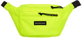 Balenciaga (バレンシアガ) - Balenciaga イエロー ナイロン エクスプローラー ベルト ポーチ