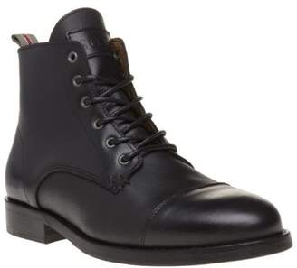 Sole New Mens Black Dawson Leather Boots Lace Up Zip