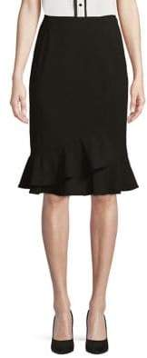 Calvin Klein Asymmetric Ruffle Hem Skirt
