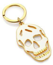 Alexander McQueenAlexander McQueen Cutout Enamel Skull Key Ring