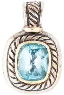 David Yurman Topaz Albion Enhancer Pendant Necklace