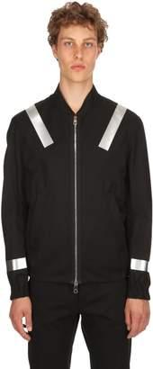 Neil Barrett Metallic Print Cotton Bomber Jacket