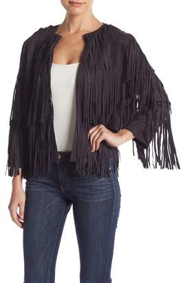 Do & Be Do + Be Fringed Faux Suede Jacket
