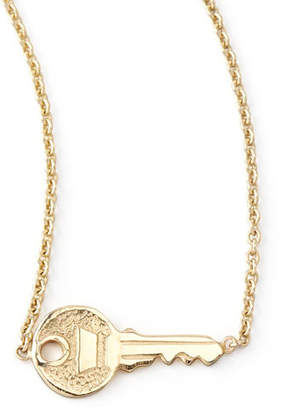 Chicco Zoe Yellow Gold Key Pendant Necklace