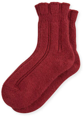 Falke Cashmere-Blend Cozy Ruffled Bedsocks