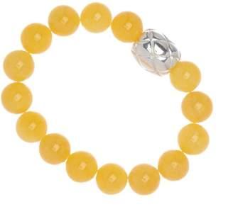 Simon Sebbag Sterling Silver Yellow Mountain Jasper Stretch Bracelet