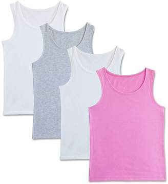 Fruit of the Loom Girls 6-16 4-pk. Signature Racerback Tank Tops