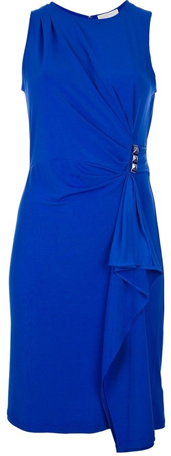 MICHAEL Michael Kors sleeveless draped dress
