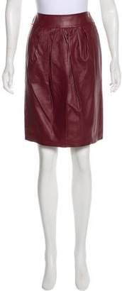 Nina Ricci Leather Pencil Skirt
