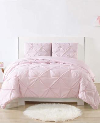 Laura Hart Kids Printed Stripe Pinch Pleat 3-Pc. Full/Queen Comforter Set Bedding