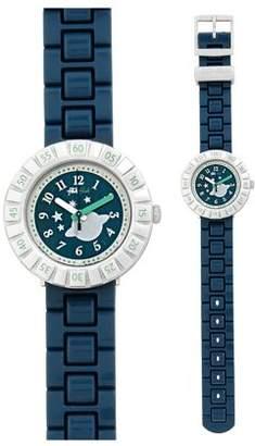 Flik Flak CA Tourne Green Dial Plastic Strap Boy's Watch ZFCSP064