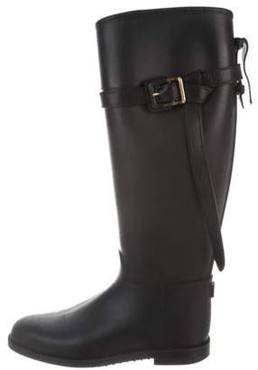 Burberry Buckle Accented Rubber Rainboots