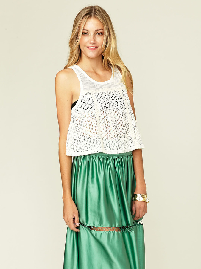 Free People Ovelty Lace Swin Top