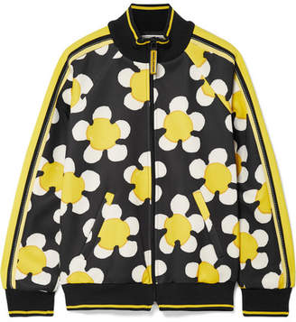 Striped Printed Tech-jersey Track Jacket - Yellow