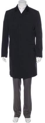 Alexander McQueen 2009 Corduroy-Trimmed Overcoat