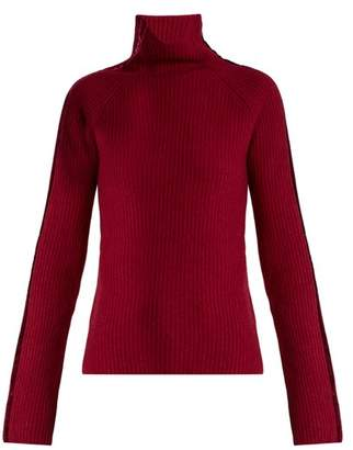 Haider Ackermann Invidia Roll Neck Wool And Cashmere Blend Sweater - Womens - Fuchsia