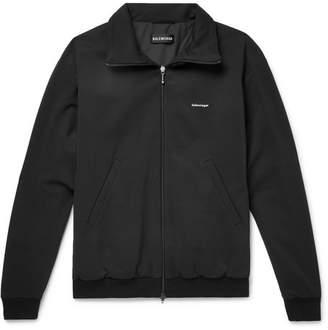 Balenciaga Slim-Fit Jersey Track Jacket