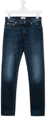Stone Island Junior bleach effect jeans