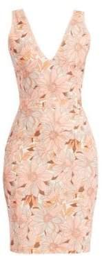 Stella McCartney Women's Bloomer Floral Sleeveless Mini Dress - Orange Multi - Size 40 (6)