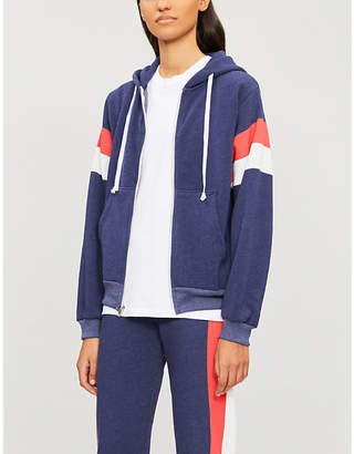 Wildfox Couture Contrast-panel cotton-blend hoody