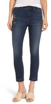 Women's Nydj Alina Embroidered Stretch Skinny Ankle Jeans $148 thestylecure.com