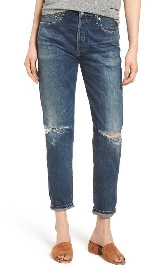 Women's Citizens Of Humanity Liya High Waist Ripped Boyfriend Jeans