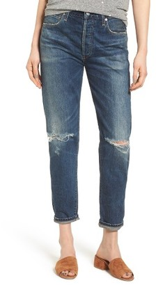 Women's Citizens Of Humanity Liya High Waist Ripped Boyfriend Jeans $228 thestylecure.com