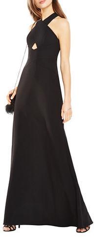 BCBGMAXAZRIABcbgmaxazria Salome Cutout Halter A-Line Gown