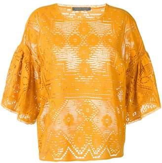 Alberta Ferretti lace panelled blouse