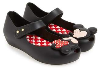 Mini Melissa Ultragirl Disney Twins Mary Jane Jelly Flat (Toddler)