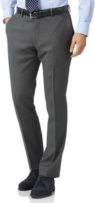 Charles Tyrwhitt Grey Slim Fit Birdseye Travel Suit Wool Pants Size W32 L30