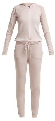 Pepper & Mayne - Cashmere Hooded Jumpsuit - Womens - Light Pink