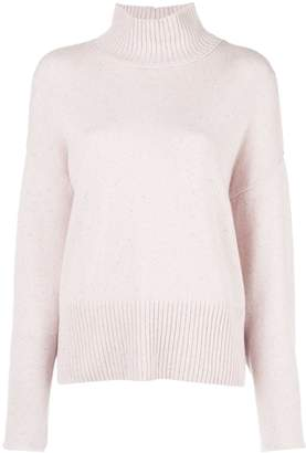 Autumn Cashmere funnel neck jumper