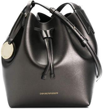 Emporio Armani front logo satchel bag